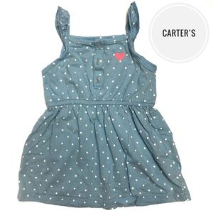 Carter's Polka-Dot Ruffle Sleeve Sundress [24mo]